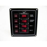 Vertical 4 Gang Switch Panel