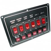 Horizontal 6 Gang Switch Panel